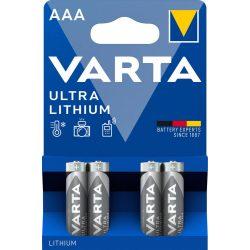 Varta Lithium AAA mikro elem Bl/4