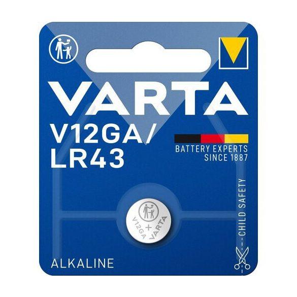 Varta V12GA,LR43 alkáli gombelem bl/1