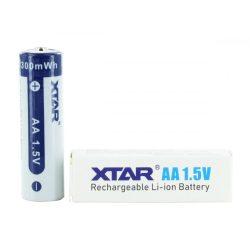 XTAR AA 1.5V-OS 3300 mWh LITHIUM AKKUMULÁTOR VÉDELEMMEL