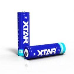 XTAR 18650 Li-ion akku védelemmel, 2600 mAh