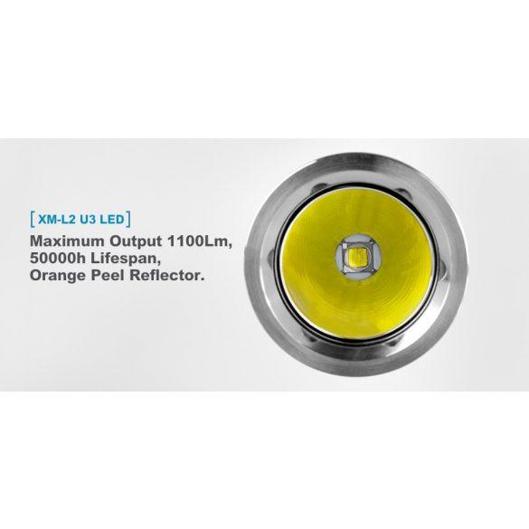 XTAR B20 PILOT II elemlámpa,Cree LED XM-L2,1100 lumen