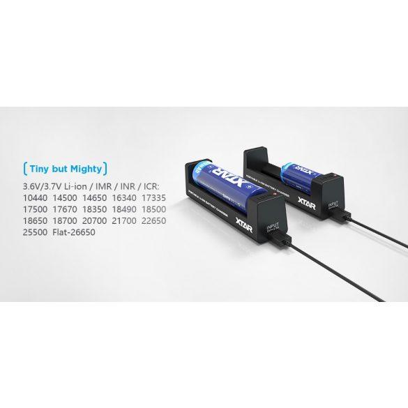 XTAR MC1 akkutöltő 1db lithium akkuhoz