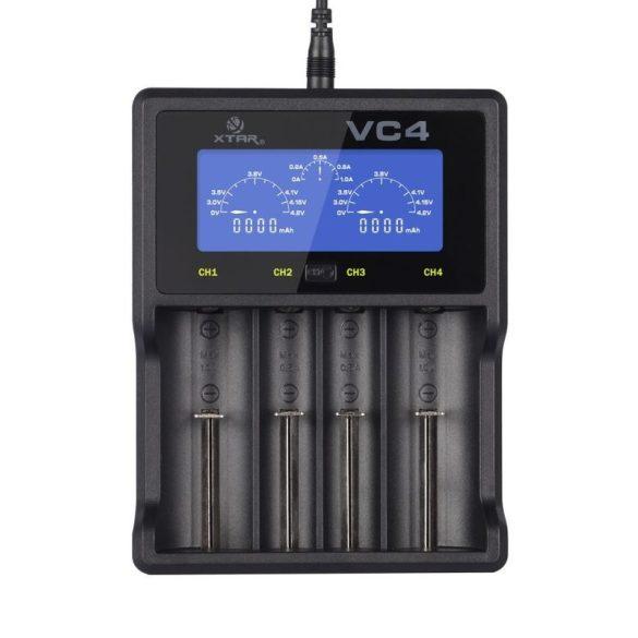 XTAR VC4 akkutöltő 4db lithium akkuhoz