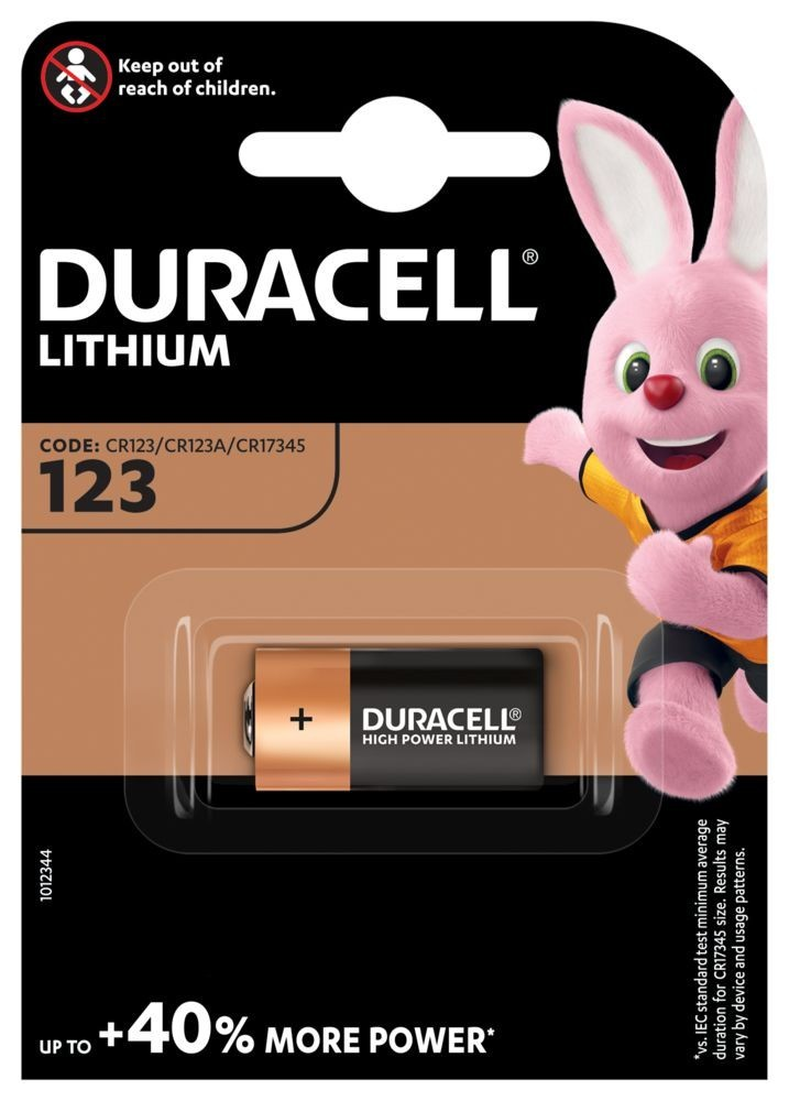 Duracell CR123 3V-os lithium elem (17345) bl/1