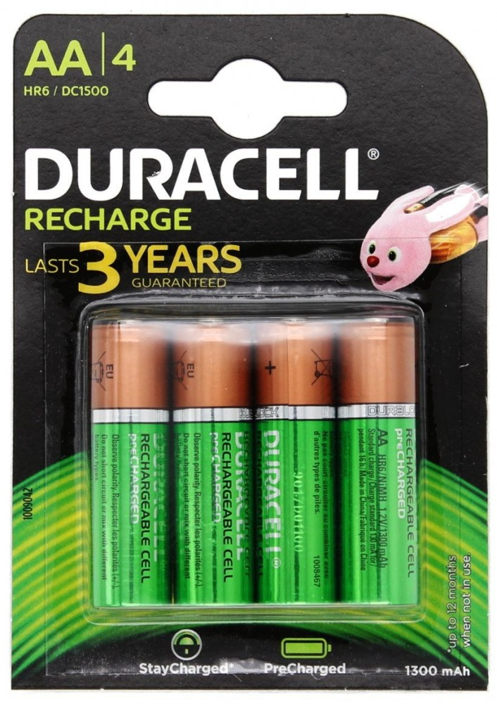 Duracell Stay Charged NI-Mh akku AA (HR6) 1300 mAh bl/4