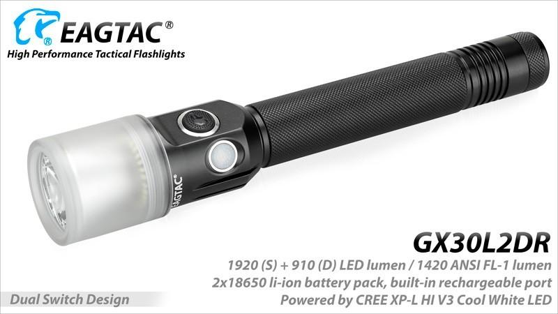 EAGLETAC elemlámpa LED GX30L2DR BASE XPLHI + ARRAY CW (1700 LUMEN)